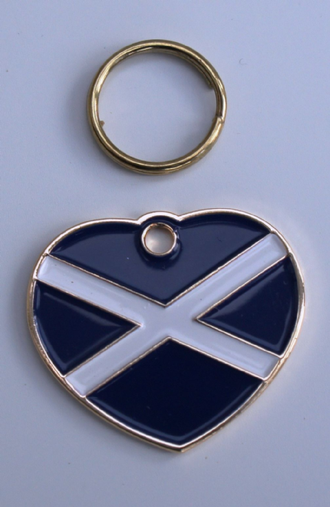SCOTTISH SALTIRE ENGRAVED PET ID TAG